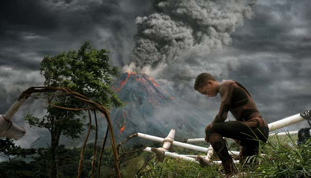 Hostile la nature dans After Earth